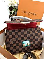 Женская сумочка LOUIS VUITTON CROISETTE коричневая (реплика), фото 1