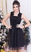 Платье Черное Зима 42-44,44-46, фото 1