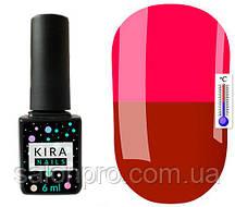 Термо гель-лак Kira Nails №T03 (красно-коричневый, при нагревании ярко-розовый), 6 мл