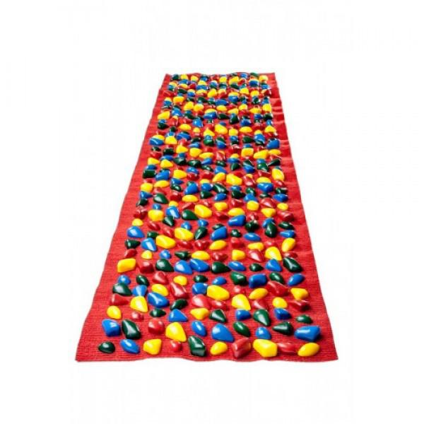 Коврик-дорожка массажный    с цветными  камнями  (150*40 см)  + запасн