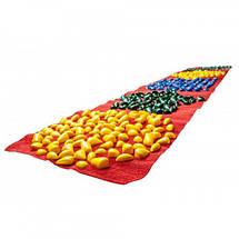 """Коврик-дорожка массажный с цветными камнями """"Ортопед"""" 200*40 см развивающий с фигурами + запасные камушки, фото 3"""