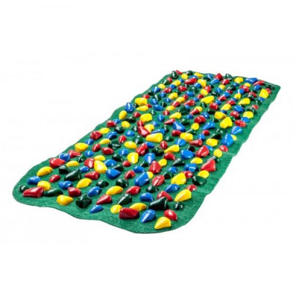 Коврик-дорожка массажный  с цветными камнями (100*40 см) + запасные ка