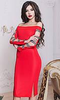 Платье Красное Зима 42-44,44-46, фото 1