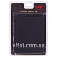 Чехол /оплетка на руль VSF68/4 S, черная обшиваемая кожа 4 шва, оплетка на руль, чехол для автомобильного руля, чехол для авто руля