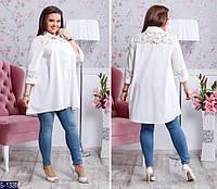 Рубашка S-1339 (60-62, 56-58) — купить Рубашки, блузки XL+ оптом и в розницу в одессе 7км