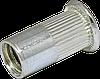 RFr-Гайка рыфлёная М 3/2-4,5 клепальная буртик D6 (500шт/уп)