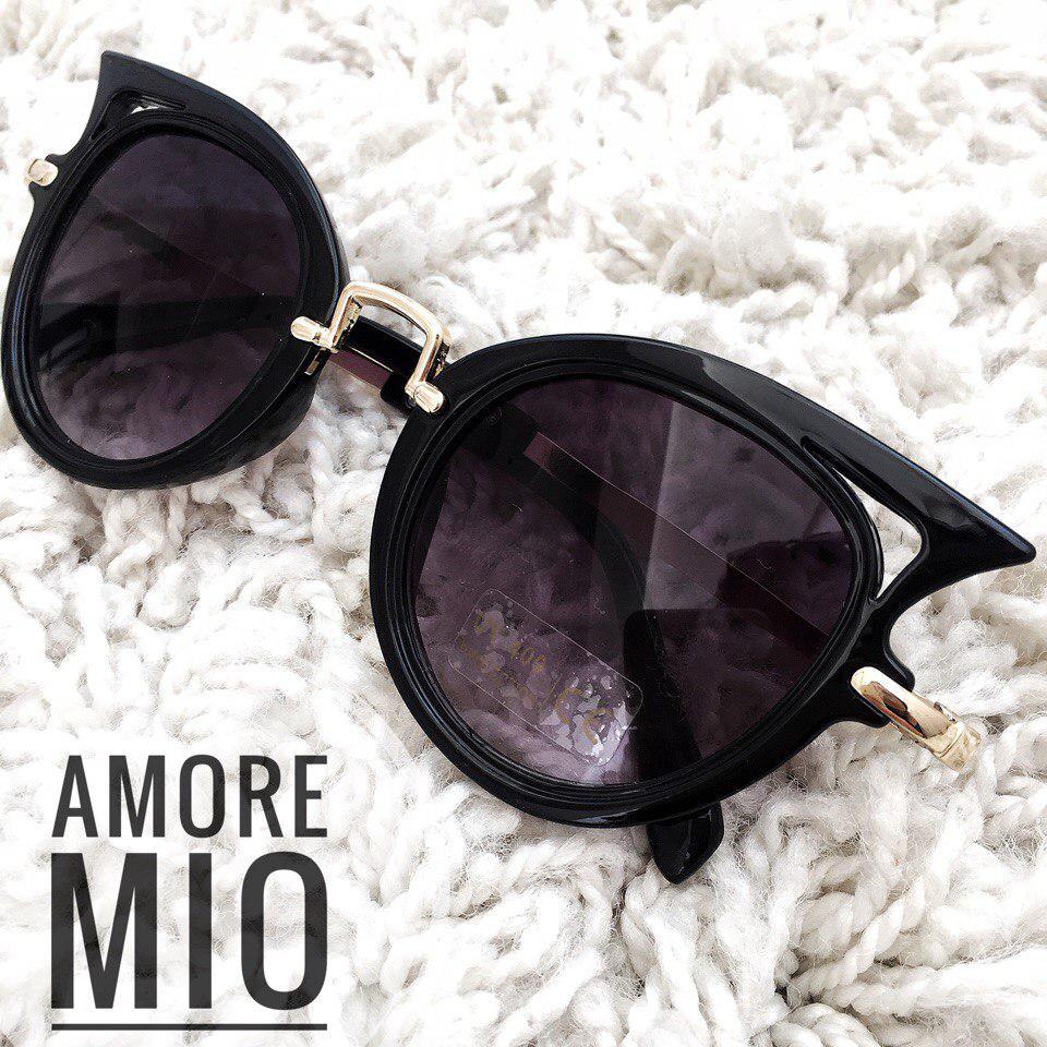 Женские солнцезащитные очки в пластиковой оправе 36163