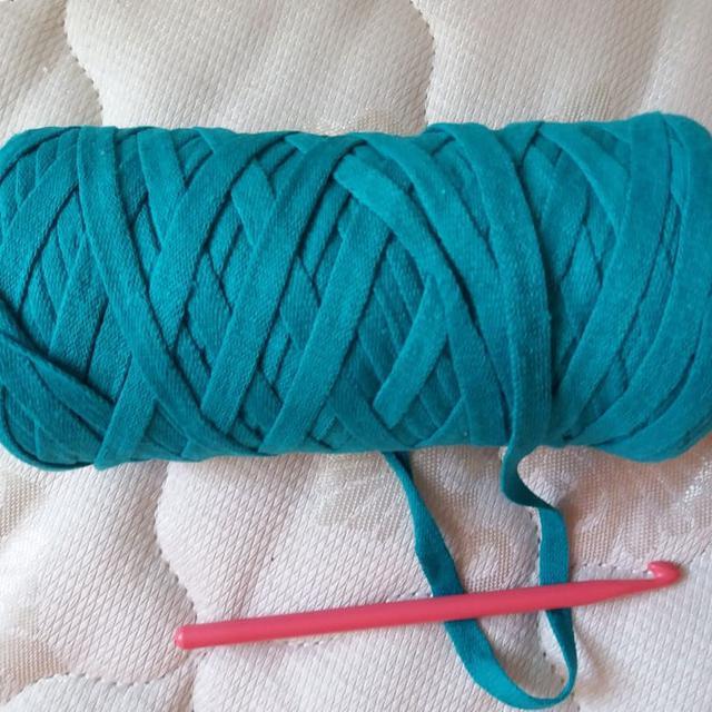 вязание корзинки из трикотажной пряжи лента