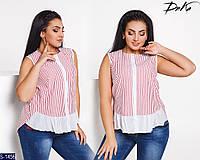 Блуза S-1456 (50, 52, 54, 56) — купить Рубашки, блузки XL+ оптом и в розницу в одессе 7км