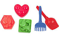 Песочный набор для малышей, 5 предметов, пасочки, игрушки для песочницы, фото 1
