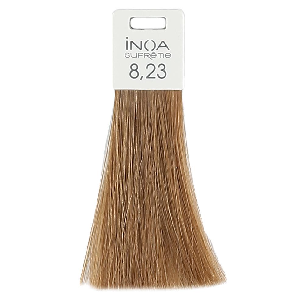Антивозрастное окрашивание 60ml LOreal Professionnel INOA Supreme 8.23 Светлый блондин перламутровый золо