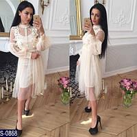 Платье S-0868 (42-46) — купить Платья оптом и в розницу в одессе 7км