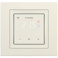 Wi-Fi терморегулятор для теплого пола terneo sx unic с сенсорным управлением (слоновая кость)