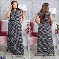 Платье S-0922 (48-50, 52-54, 60-62, 56-58) — купить Платья XL+ оптом и в розницу в одессе 7км