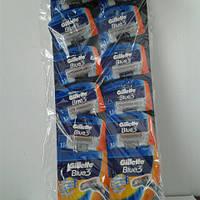 Gillette жиллетт Blue 3 станок мужской одноразовый на листе10 шт., фото 1