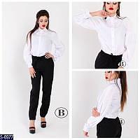 Рубашка S-0977 (42, 44, 46) — купить Рубашки, блузки оптом и в розницу в одессе 7км