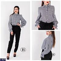 Рубашка S-0978 (42, 44, 46) — купить Рубашки, блузки оптом и в розницу в одессе 7км