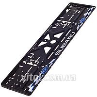 Автомобильная рамка для номера пластик Sprint SUBARU цветная Украина, рамка для номера, рамка номерного знака, автомобильная рамка для номерного знака