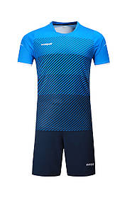 Футбольная форма Europaw 017 голубо-т.синяя