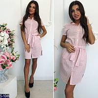 Платье-рубашка S-1048 (42, 44, 46) — купить Платья оптом и в розницу в одессе 7км