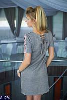 Платье S-1074 (42, 44, 46) — купить Платья оптом и в розницу в одессе 7км