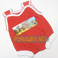 Детский песочник-майка, р. 62 ткань КУЛИР 100% тонкий хлопок, ТМ Baby art  3397 Красный А
