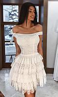 Платье Белое Весна 42-44,44-46