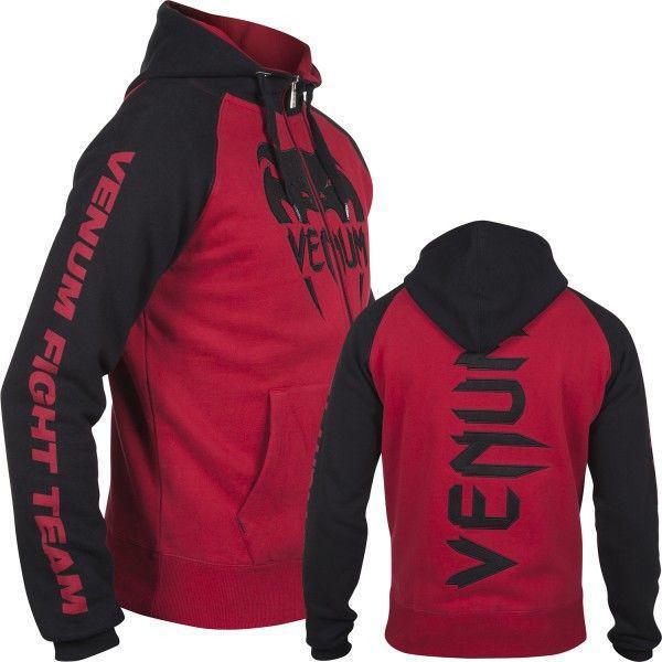 Толстовка Venum Pro Team 2.0 Hoodie Black Red