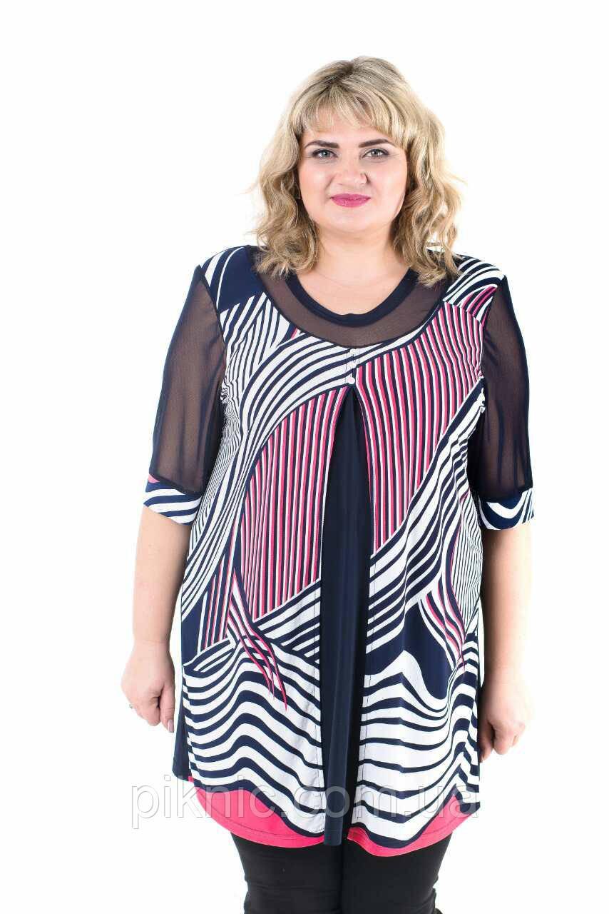 b29d1aa5a Туника Лимбо батал 58-60, 66-68. Женская одежда больших размеров Весна,  цена 524 грн., купить в Одессе — Prom.ua (ID#690523208)