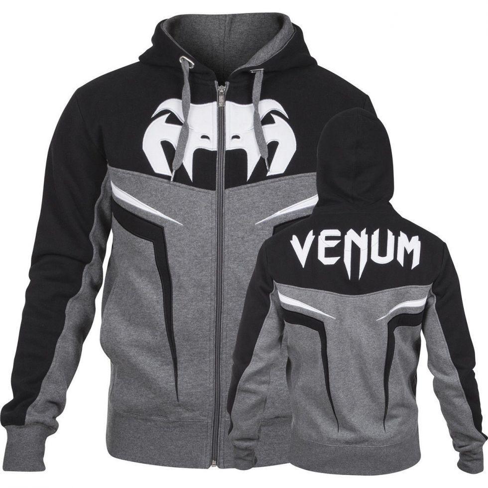 Толстовка Venum Shockwave 3.0 Hoodie Grey Black