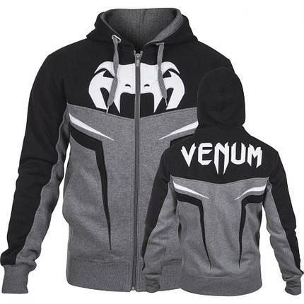 Толстовка Venum Shockwave 3.0 Hoodie Grey Black, фото 2