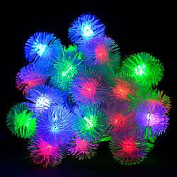"""Гирлянда светодиодная VENOM """"Ежики"""" 30LED RGB, белый провод (LS-HEDGEHOGS-30LED-WC) RGB"""