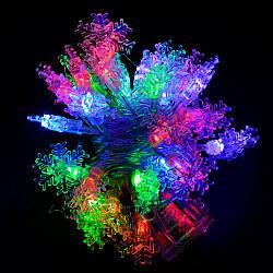 "Гирлянда светодиодная VENOM ""Снежинка"" 30LED RGB, белый провод (LS-SNOWFLAKE-30LED-WC) RGB"