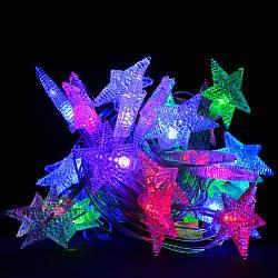 "Гирлянда светодиодная VENOM ""Звезда"" 30LED RGB, белый провод (LS-STAR-30LED-WC) RGB"