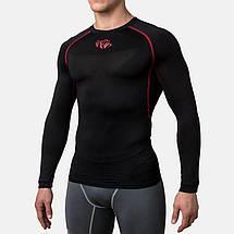 Компрессионная футболка Peresvit Air Motion Compression Long Sleeve T-Shirt Black Red, фото 3