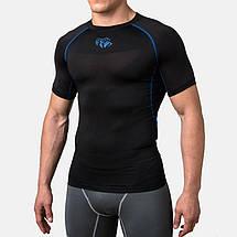 Компрессионная футболка Peresvit Air Motion Compression Short Sleeve T-Shirt Black Blue, фото 3