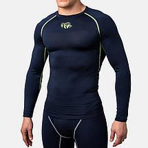 Компрессионная футболка Peresvit Air Motion Compression Long Sleeve T-Shirt Navy Flu Yellow, фото 3
