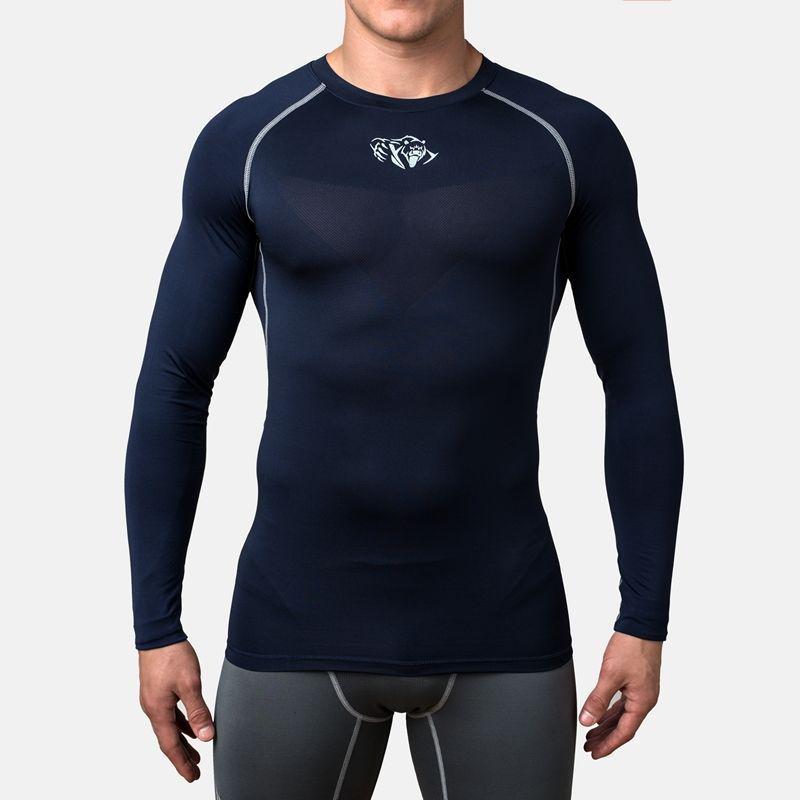 Компрессионная футболка Peresvit Air Motion Compression Long Sleeve T-Shirt Navy Grey