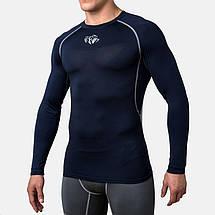Компрессионная футболка Peresvit Air Motion Compression Long Sleeve T-Shirt Navy Grey, фото 2