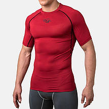 Компрессионная футболка Peresvit Air Motion Compression Short Sleeve T-Shirt Red Black, фото 3