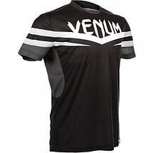 Футболка Venum Sharp 2.0 Dry Tech T-shirt Black Grey, фото 2
