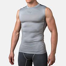 Компресійна футболка без рукавів Peresvit Air Motion Compression Tank Heather Grey Black, фото 3