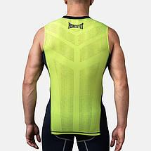 Компрессионная футболка без рукавов Peresvit Air Motion Compression Tank Navy Flu Yellow, фото 2