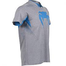 Футболка Venum Hurricane X Fit T-shirt Grey Blue, фото 2