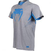 Футболка Venum Hurricane X Fit T-shirt Grey Blue, фото 3