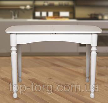 Стол обеденный Поло, белый 1030(+340)*740мм раскладной