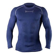 Компрессионная футболка с длинным рукавом Peresvit 3D Performance Rush Compression T-Shirt Navy, фото 2