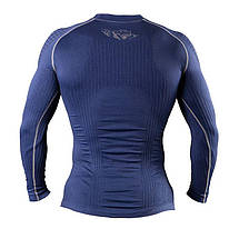 Компрессионная футболка с длинным рукавом Peresvit 3D Performance Rush Compression T-Shirt Navy, фото 3