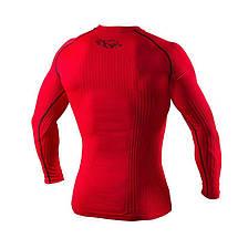 Компрессионная футболка с длинным рукавом Peresvit 3D Performance Rush Compression T-Shirt Red, фото 3