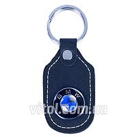 Брелок для ключей от авто BMW (кожаный простой-3), кожаный, брелок для автомобильных ключей, брелок с автомобильным лого